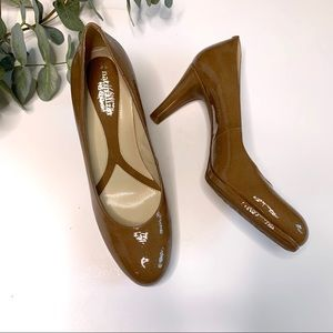 Naturalizer Lennox Tan Beige Faux Patent Leather 8